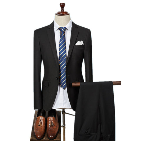 Bargain Single Button Men's Suit for $139.00 ($200 original price) 6 colors