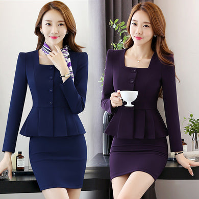 Women's Work Blazer Pants Skirt Set (2 piece, 3 piece) S to 4XL - hamarini2.com