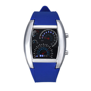 Aviation Turbo Dial Flash LED Watch 3 Colors