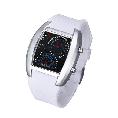 Aviation Turbo Led Watch (Free With Purchase Of Any Item) - White - Watch