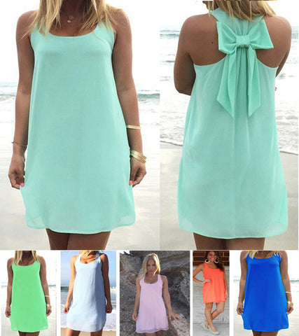 Women's Chiffon Summer Dress S to 3XL in 8 Vibrant Colors