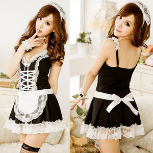 Lace Sexy Miniskirt Maid Cosplay Outfit