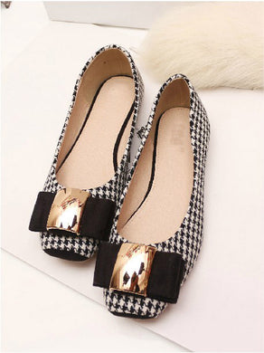 Small To Plus Size Classic Plaid Womens Flat Shoes - Shoes