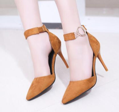 Womens High Heels Sexy Pumps With Ring Strap - 3 / 4.5 - Shoes