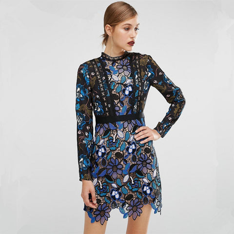 On Sale 2017 Blue Lace Runway Maxine Mini Dress ($360 in UK). See post below