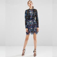 Blue Lace Runway Maxine Mini Dress ($360 In Uk). See Post Below - Blue / S - Party Dress