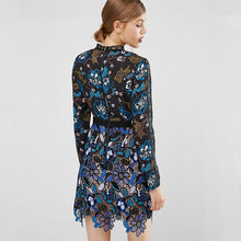 Blue Lace Runway Maxine Mini Dress ($360 In Uk). See Post Below - Party Dress