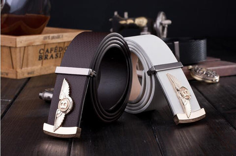 B Logo Men's Leather Belt 3 Colors