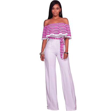 Women Striped Jumpsuit  (Long Pants) S to 2XL - Hamarini2