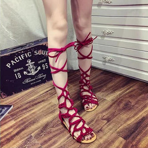 Crossover Strap Women's Gladiator Sandals