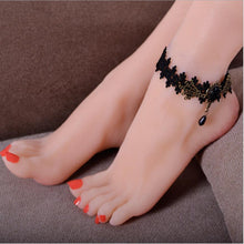 Handmade Gothic Lace Anklet - Accessories