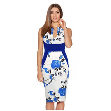 Madison Pencil Dress In 10 Designs - Blue Print Ussize / Xs - Dress
