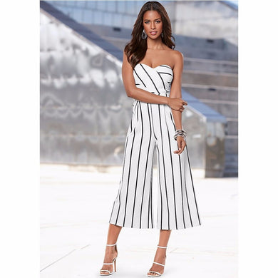 Lady Fashion Loose Calf Pants Rompers - hamarini2.com