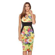 Madison Pencil Dress In 10 Designs - Yellow / Xs - Dress