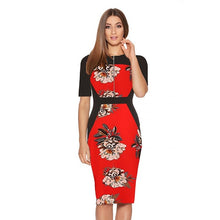 Madison Pencil Dress In 10 Designs - Red Half / Xs - Dress