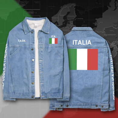 Italy Italia Denim Jackets with FREE Customization - hamarini2.com