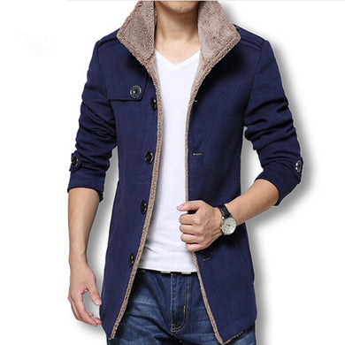 Men's Wool Winter Long Jacket - Hamarini2