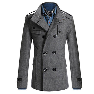 Mens Double Breasted Trench Coat $39.50 - Hamarini2