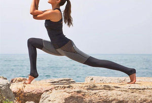 Fitness Mesh Splice Leggings