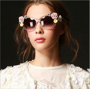 Hand Made Retro Flower Sunglasses