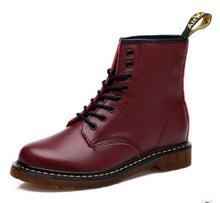 Original Dr Martens Genuine Leather Unisex Boots Factory Price - Burgundy / Us5 - Boots