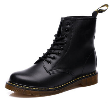 Original Dr Martens Genuine Leather Unisex Boots Factory Price - Black / Us5 - Boots