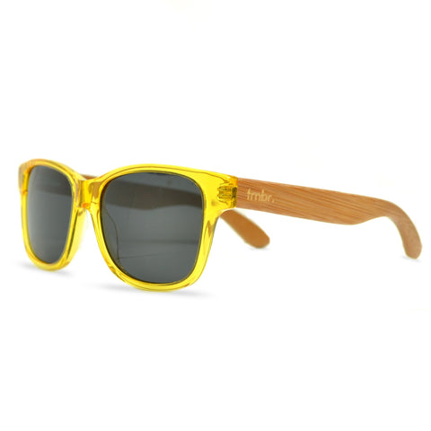 Tmbr. Rayon from Bamboo Unisex Yellow Sunglasses