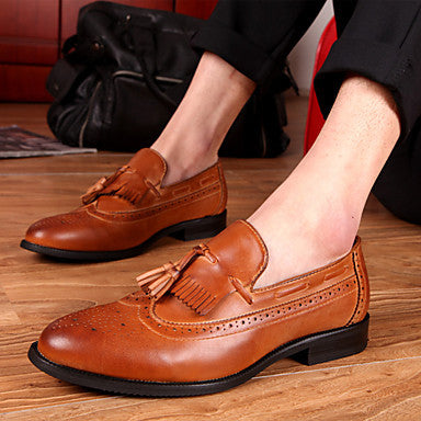 Men's Leather Shoes with Tassel
