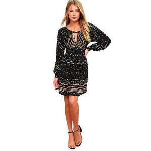 Free People Free People Coryn Black Open Back Mini Dress size 4 - Fab50Fashions