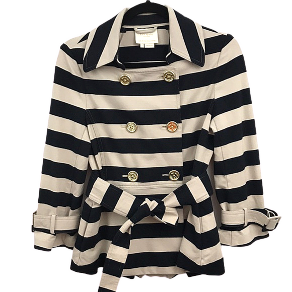 Kate Spade Step Out In Stripes Peacoat Blazer Size Small - Fab50Fashions