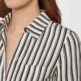 Striped Shirt Maxi Dress BCBGMAXAZRIA