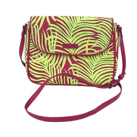 Vera Bradley Palm Fronds Flap Crossbody Bag - Fab50Fashions