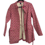 Gap Spring Tulips Pink Red Trench Coat size M - Fab50Fashions
