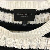 Romeo and Juliet Couture Crew Neck Sweater size L - Fab50Fashions