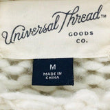 Universal Thread Goods Ivory Knit Sweater size M - Fab50Fashions