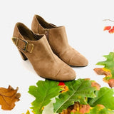 Aerosoles Tan Suede Ankle Booties size 8 - Fab50Fashions