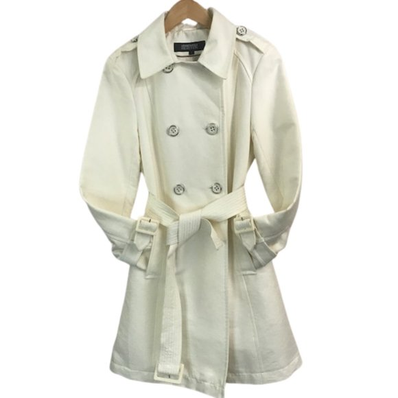 Kenneth Cole Reaction Double Breasted Trench Coat size M