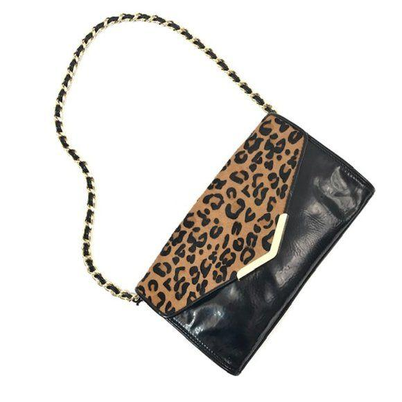 Gianni Bini Black Leopard Print Shoulder Bag - Fab50Fashions