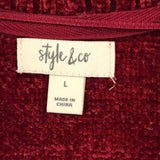 Style & Co. Chenille Shawl Collar Cardigan Sweater size L - Fab50Fashions