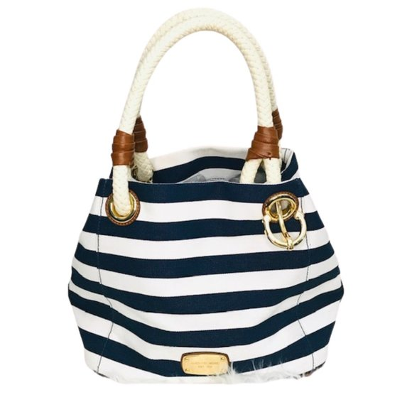 Michael Kors Blue White Nautical Tote Bag - Fab50Fashions