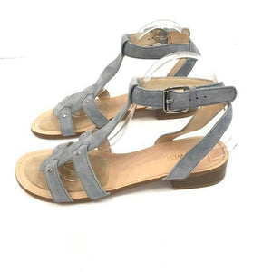 Nine West Yippee T-Strap Sandals Blue size 9.5 - Fab50Fashions