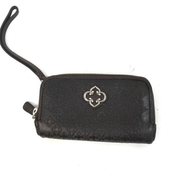 Brighton Brighton Brown Leather Wallet Wristlet Crossbody - Fab50Fashions