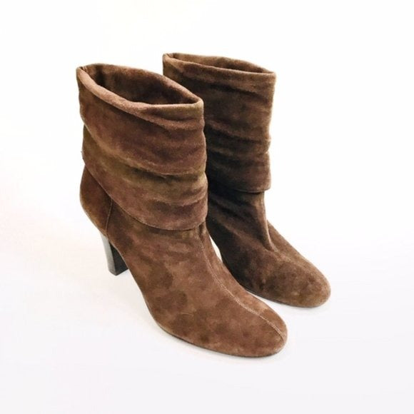 Nine West Brown Suede Ankle Booties 8.5 - Fab50Fashions