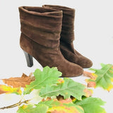 Nine West Nine West Brown Suede Ankle Booties 8.5 - Fab50Fashions
