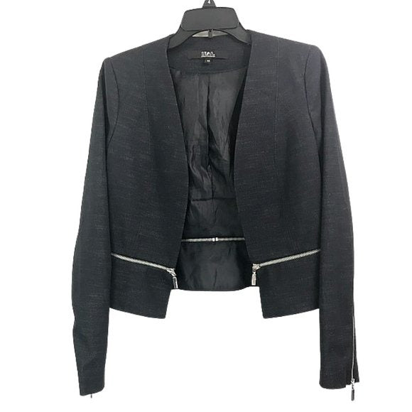 Star by Julien MacDonald Crop Denim Blazer size 10 - Fab50Fashions