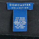 Doncaster Collection Black Zip Front Cardigan size M - Fab50Fashions