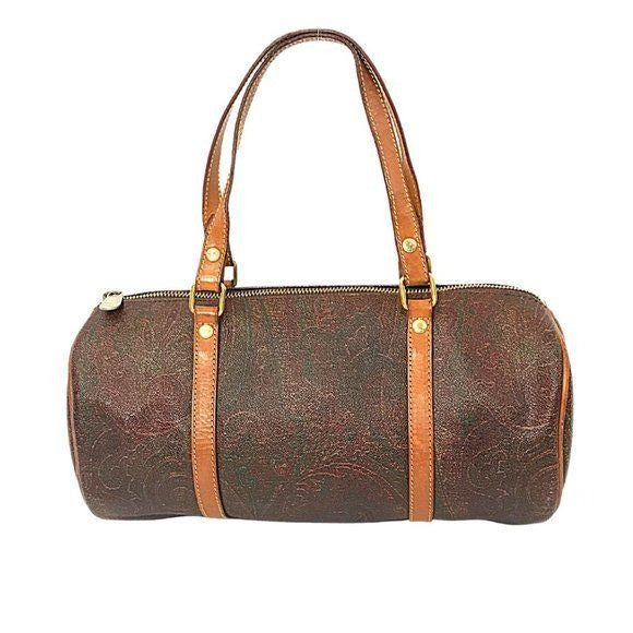 Vintage Etro Papillon Paisley Barrel Bag
