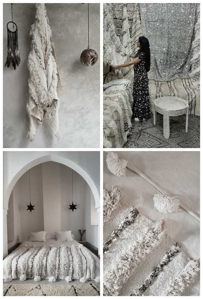 vintage moroccan wedding blankets, perfect for the bohemian modern home