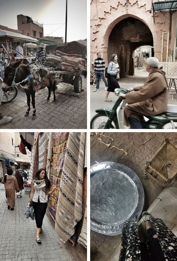 treasure hunting in the medina of Marrakech looking for the perfect moroccan vintage berber rug
