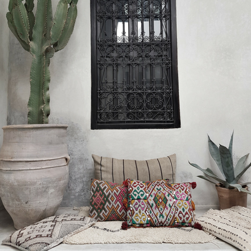 moroccan kilim pillow sharifa